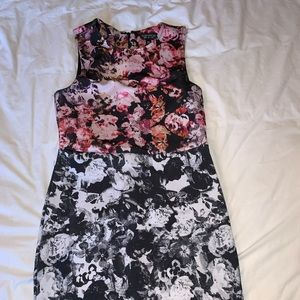 Topshop body con mini dress.